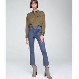 NWT Rag & Bone Hana High Waist Crop Bootcut Jeans